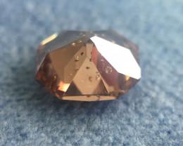 Gia Certified Fancy Deep Pink Brown Diamond Culet