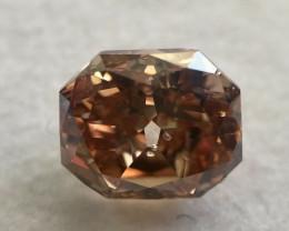 Gia Certified Fancy Deep Pink Brown Diamond Table