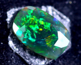 1.31cts Natural Ethiopian Faceted Smoked Opal / MA362
