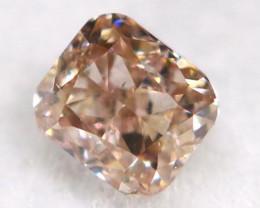 Champagne Pink Diamond 0.13Ct Untreated Genuine Fancy Diamond B1507