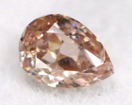 Champagne Pink Diamond 0.11Ct Untreated Genuine Fancy Diamond B1509