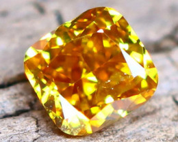 Yellowish Orange Diamond 015Ct Untreated Genuine Fancy Diamond B1516