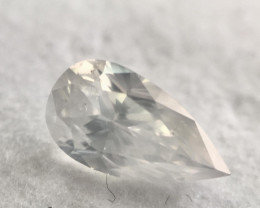 GIA Pear 1.01 Carat Natural Fancy White Loose Diamond One of a Kind
