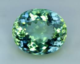 Kunzite, 25.00 Carats Amazing Lush Green Hiddenite Kunzite Gemstone