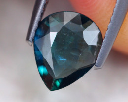 1.01ct Natural Greenish Blue Unheated Sapphire Pear Cut Lot S157