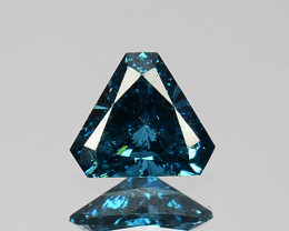 Glittering!!!  0.13 Cts Natural Diamond Greenish Blue 3mm Fancy Trillion Af