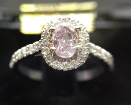 Engagement Ring GIA Oval 0.50 Carat Fancy Pink Diamond We Do Custom Orders