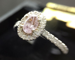 0.5 ct Oval shaped Halo Ring with 30 accent diamonds