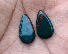 GENUINE BLOODSTONE GEMSTONE PAIR Natural+Untreated VA1911