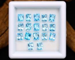 Swiss Topaz 4.00Ct Calibrated Octagon 3.7x3mm Natural Blue Topaz Lot B1605