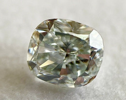 GIA Cushion 0.45 Carat Fancy Light Blue Green Natural Loose Color Diamond S