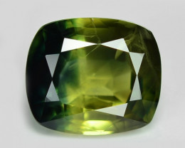 0.91 Cts Amazing Rare Natural Fancy Green Sapphire Loose Gemstone