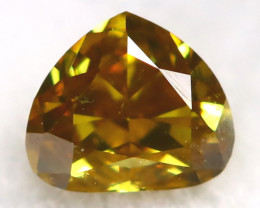Yellowish Green Diamond 0.12Ct Untreated Genuine Fancy Diamond AT0352