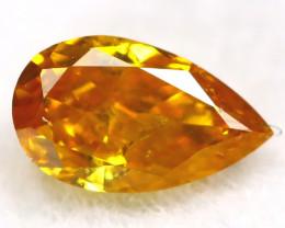 Yellowish Orange Diamond 0.15Ct Untreated Genuine Fancy Diamond AT0354