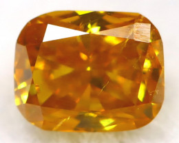 Yellowish Orange Diamond 0.18Ct Untreated Genuine Fancy Diamond AT0357