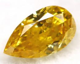 Greenish Yellow Diamond 0.23Ct Untreated Genuine Fancy Diamond AT0359
