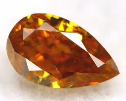 Orange Diamond 0.19Ct Untreated Genuine Fancy Diamond AT0361