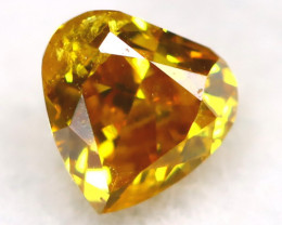 Intense Yellow Orange Diamond 0.13Ct Untreated Genuine Fancy Diamond AT0364