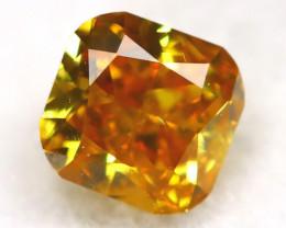 Yellowish Orange Diamond 0.15Ct Untreated Genuine Fancy Diamond AT0366