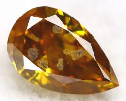 Greenish Orange Diamond 0.15Ct Untreated Genuine Fancy Diamond AT0383