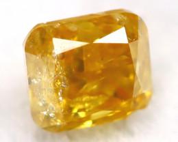 Orange Diamond 0.22Ct Untreated Genuine Fancy Diamond AT0386