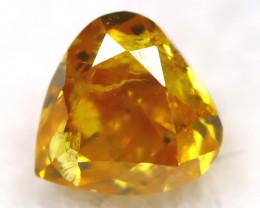 Yellowish Orange Diamond 0.20Ct Untreated Genuine Fancy Diamond AT0394