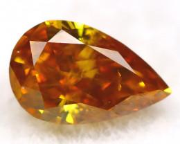 Orange Diamond 0.18Ct Untreated Genuine Fancy Diamond AT0396