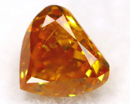 Reddish Orange Diamond 0.12Ct Untreated Genuine Fancy Diamond AT0399