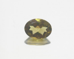 1.75 Ct Peridot  Faceted Oval  9x7mm.- Olivine Green.(SKU445)
