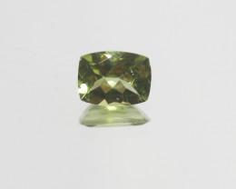 1.4 Ct Peridot  Faceted Rectangular 8x6mm.- Olivine Green.(SKU449)