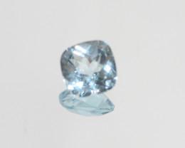 3.5 Ct Sky Blue Topaz  Faceted Square 8.7mm.(SKU 454)