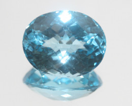 36.2 Ct Swiss Blue Topaz  Faceted Oval 21.8x17.3mm.(SKU 456)