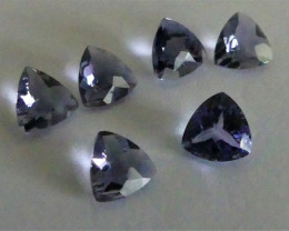 Tanzanite Trillion  parcel of 6 gemstones