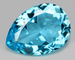 13.43 Carat Swiss Blue Natural Topaz Gemstone