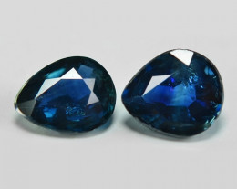 1.41 Cts 2 pcs Amazing Rare Natural Fancy Blue Sapphire Loose Gemstone
