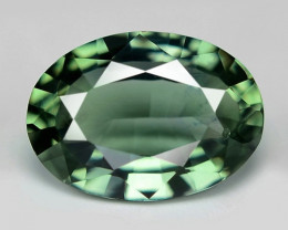 0.92 Cts Natural Fancy Green Sapphire Loose Gemstone