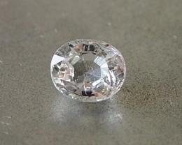 1.51ct unheated white sapphire