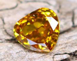 Yellowish Orange Diamond 0.09Ct Untreated Genuine Fancy Diamond A1718