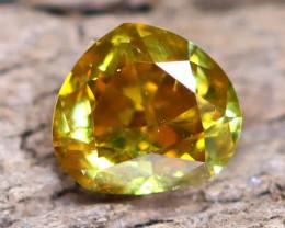 Greenish Orange Diamond 0.23Ct Untreated Genuine Fancy Diamond B0702