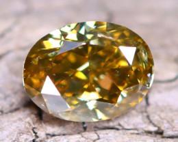 Yellowish Green Diamond 0.37Ct Untreated Genuine Fancy Diamond B1717