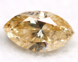 0.18Ct Natural Untreated Marquise Fancy Champagne Diamond BM0305