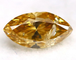 0.14Ct Natural Untreated Marquise Fancy Champagne Diamond BM0306