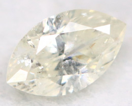 0.21Ct Natural Untreated Marquise Fancy White Diamond BM0321