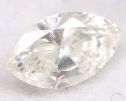 0.21Ct Natural Untreated Marquise Fancy White Diamond BM0323