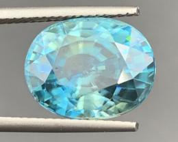10.66 CT Blue Zircon Gemstones top luster