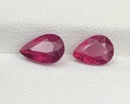 1.70 CT Natural Color Rubellite Tourmaline Gemstone