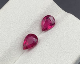 1.35 CT Natural Color Rubellite Tourmaline Gemstone