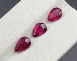 3.35 CT Natural Color Rubellite Tourmaline Gemstone