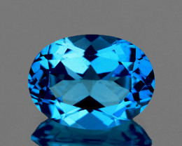 8x6 mm Oval 1.48cts Swiss Blue Topaz [VVS]