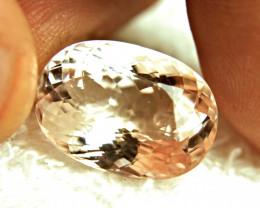 19.85 Carat Morganite.  Superb VVS Gem